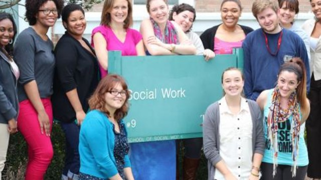 Group of social work students
