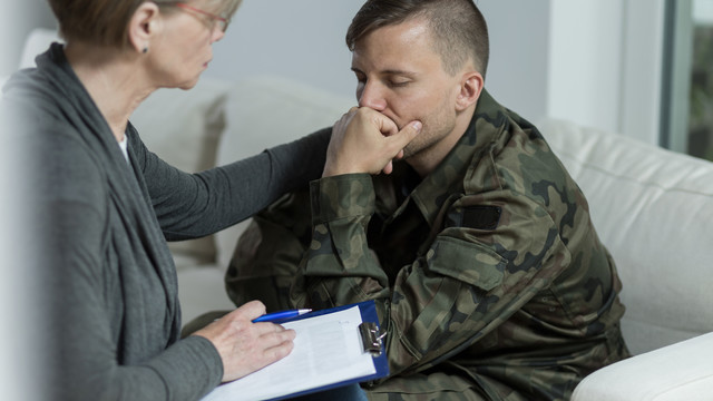 Consoling a veteran