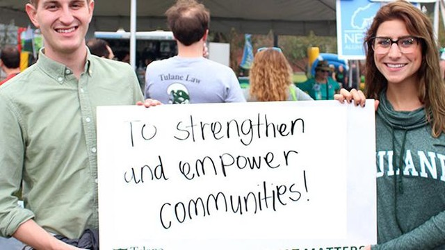 Tulane university strengthens and empowers community